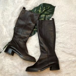 Nine West Tall Brown Riding Boots 6 Pierce Style